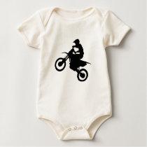DIRT BIKE (black) Baby Bodysuit
