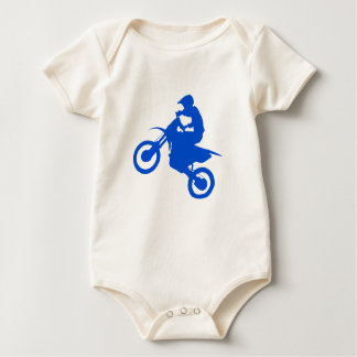 DIRT BIKE (blue) Baby Bodysuit