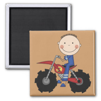 Dirt Bike - Boy Tshirts and Gifts 2 Inch Square Magnet