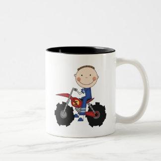 Dirt Bike - Boy Tshirts and Gifts Two-Tone Coffee Mug