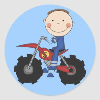 Dirt Bike - Boy Tshirts and Gifts Round Sticker