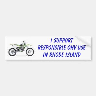 Dirt Bike Car Bumper Sticker