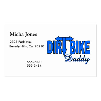 Dirt Bike Daddy Double-Sided Standard Business Cards (Pack Of 100)