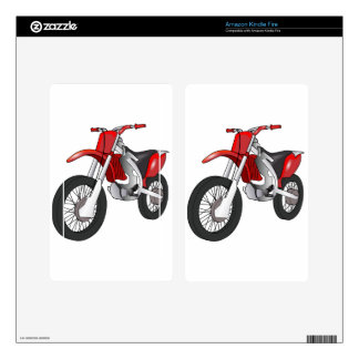 Dirt Bike Decal For Kindle Fire