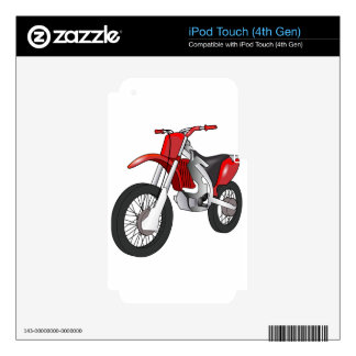 Dirt Bike Decals For iPod Touch 4G