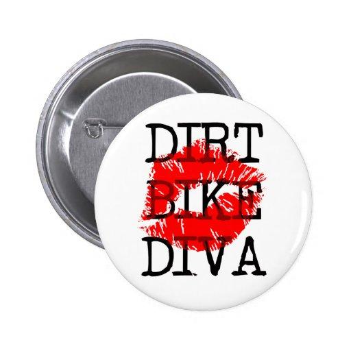 Dirt Bike Diva Motocross Button