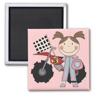 Dirt Bike - Girl T-shirts and Gifts 2 Inch Square Magnet