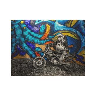Dirt Bike Graffiti Urban Street Art Wood Poster