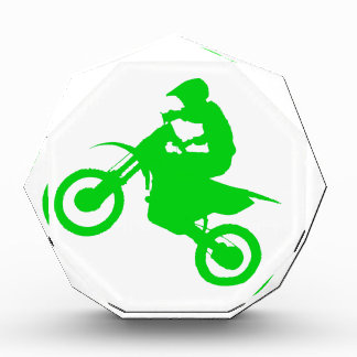 DIRT BIKE (green) Acrylic Award