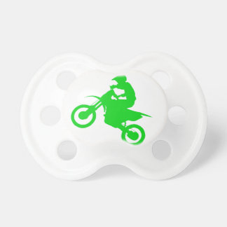 DIRT BIKE (green) Pacifier
