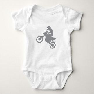 DIRT BIKE (grey) Baby Bodysuit