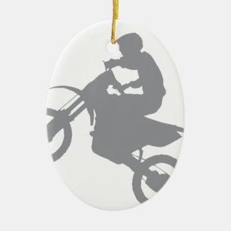DIRT BIKE (grey) Ceramic Ornament