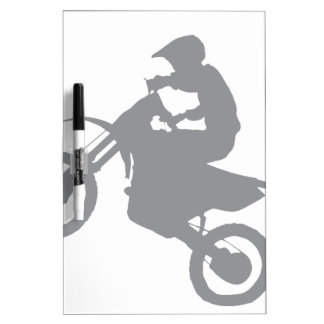 DIRT BIKE (grey) Dry Erase Board