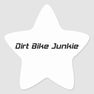 Dirt Bike Junkie Star Sticker