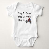 Dirt Bike Motocross Baby Bodysuit
