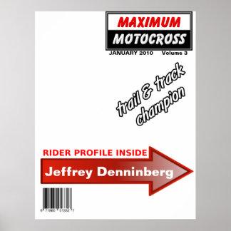 Dirt Bike Motocross Magazine Cover Poster