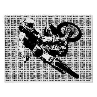 Dirt Bike Motocross Print Poster