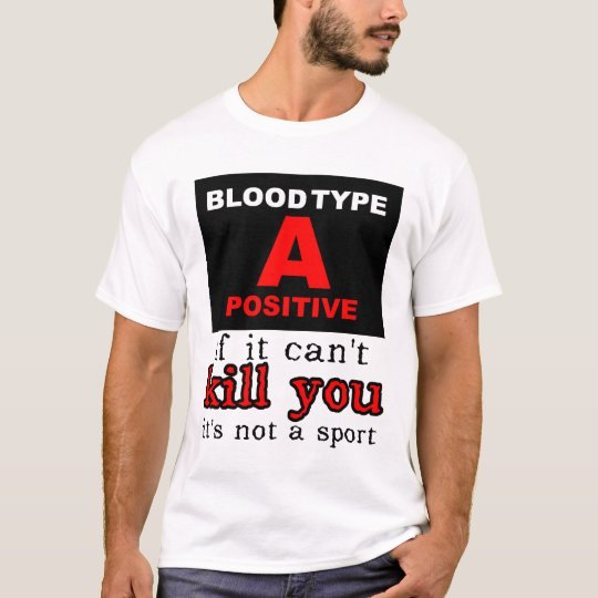 Dirt Bike Motocross Shirt - Blood Type A Positive