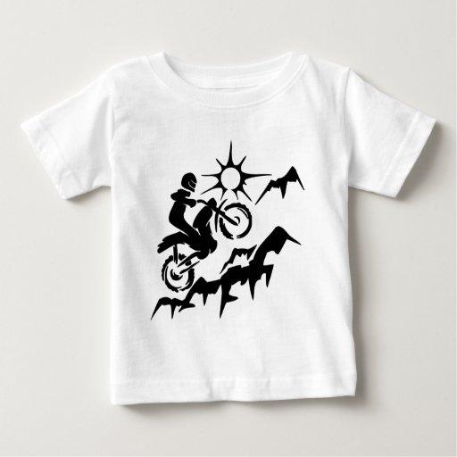Zazzle Dirt Bike Mountain Baby T-shirt