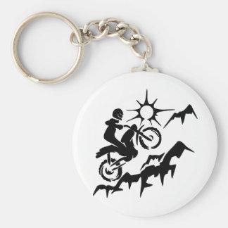 Dirt Bike Mountain Keychain