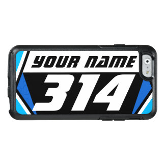 Dirt Bike MX Racing Number - Blue - White Number OtterBox iPhone 6/6s Case