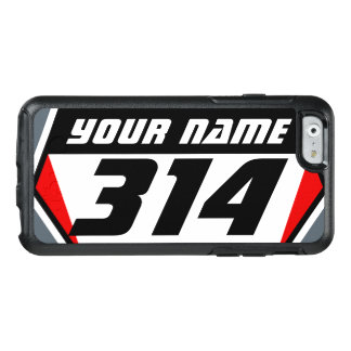 Dirt Bike MX Racing Number - Red - Black Number OtterBox iPhone 6/6s Case