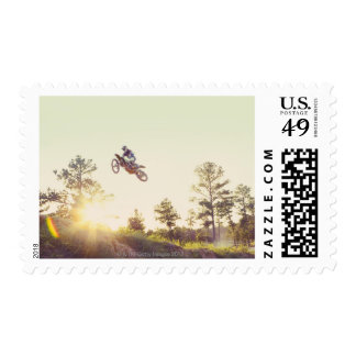 Dirt Bike Postage Stamp