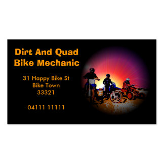Dirt Bike Quad Bike Mehcanic Business Card
