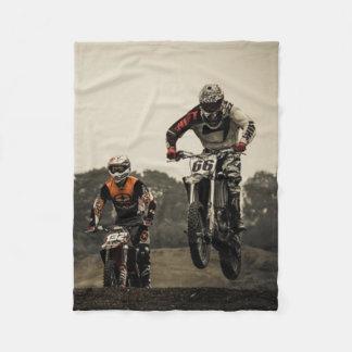 Dirt Bike Race Fleece Blanket