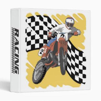 Dirt Bike Racing Binder Motorcycle