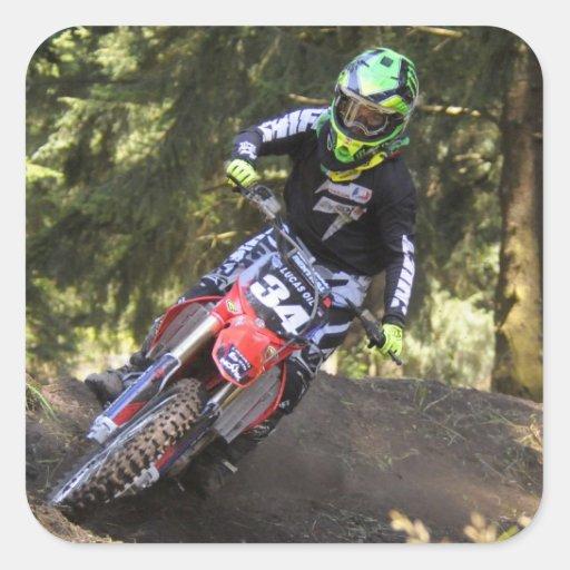 dirt bike racing sticker zazzle
