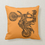 "Dirt bike ride throw pillow<br><div class=""desc"">motorcycle,  bike,  moto,  biker,  retro,  vintage,  oldschool,  oldskool,  cafe, racer, caferacer,  choppers,  motocross,  offroad,  race,  ride,  racing,  road,  commuting,  old,  past,  fast,  easy,  cross,  country,  dirt,  cycle,  extreme,  track,  rebel,  racers,  bikers</div>"