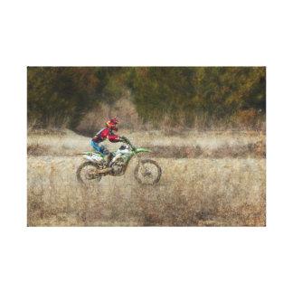 Dirt Bike Riding Canvas Print