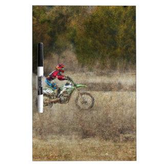 Dirt Bike Riding Dry-Erase Board