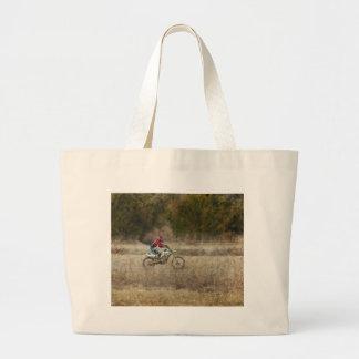 Dirt Bike Riding Large Tote Bag