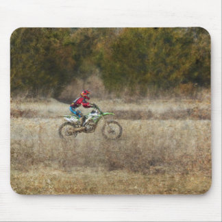 Dirt Bike Riding Mouse Pad