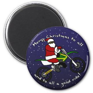 Dirt Bike Santa Fridge Magnets