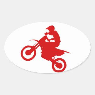 DIRT BIKE (scarlet) Oval Sticker