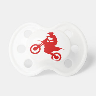 DIRT BIKE (scarlet) Pacifier