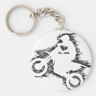 DIRT BIKE (scribble black) Keychain