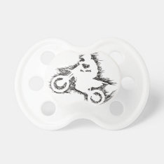 Dirt Bike (scribble Black) Pacifier at Zazzle