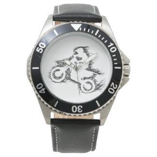 DIRT BIKE ( scribble black ) Wrist Watch