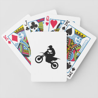 DIRT BIKE SILHOUETTE BICYCLE PLAYING CARDS