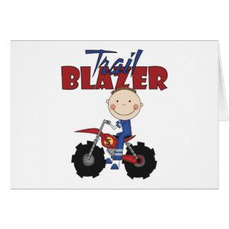 Dirt Bike Trail Blazer Greeting Card