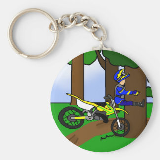 Dirt Bike Tree Hugger Keychain