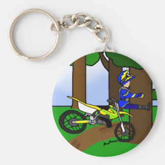 Dirt Bike Tree Hugger Keychain