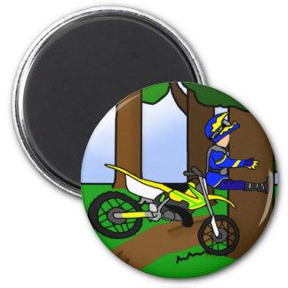 Dirt Bike Tree Hugger Magnet