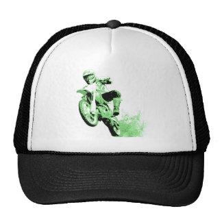Dirt Bike Wheeling in Mud (Green) Trucker Hat