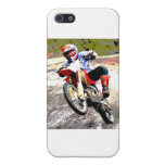 Dirt Bike Wheeling in the Mud in Color Cases For iPhone 5