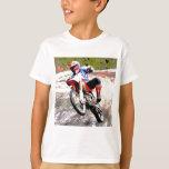 Dirt Bike Wheeling in the Mud in Color T-Shirt